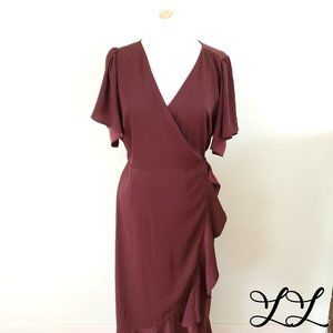 NWOT Chelsea 28 Dress Wrap Burgundy